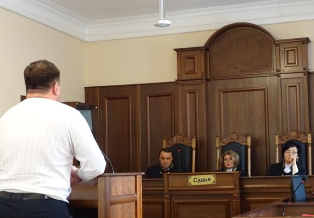 Мужчина в суде